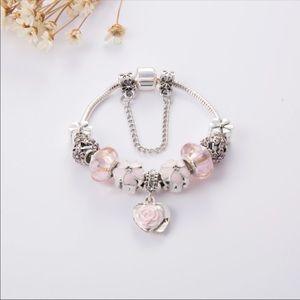 Jewelry - Brand New Pink Flower Charm Bracelet